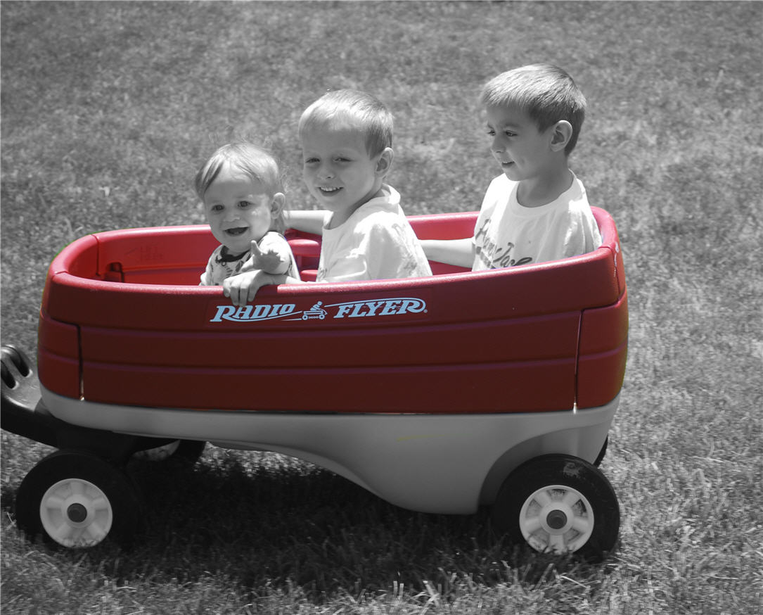 Brisan, Parker, Duncan in the wagon
