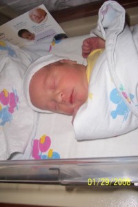 Duncan Stults at birth Jan 2008