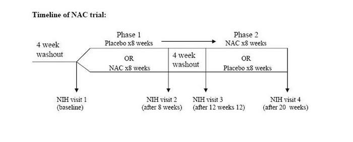 NAC trial timeline diagram