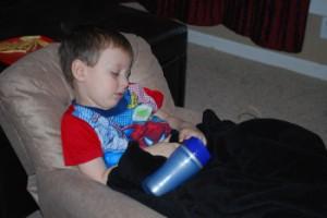 Parker in recliner 3-26-10