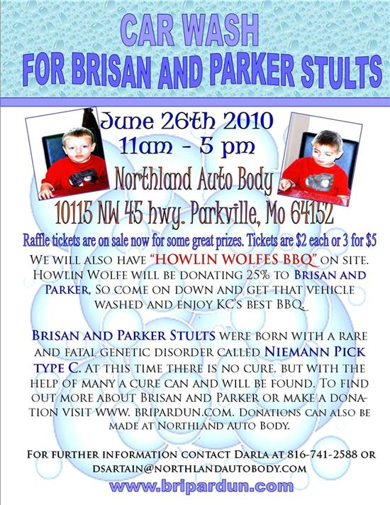 Brisan & Parker Stults | Car Wash Fundraiser | June 26, 2010