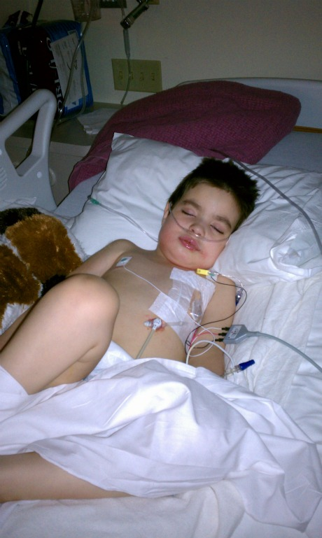Brisan at out of ICU 8-26-2011