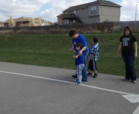 Brisan Walking to First Base