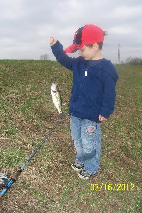 Duncan Holding His Fish