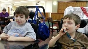 Brisan & Parker at Church