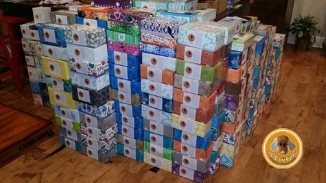 606 boxes of tissue