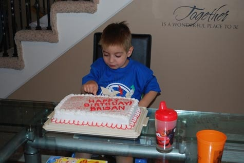 Brisan sampling his birthday cake back in 2009