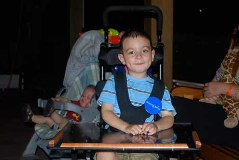 Brisan on his Make A Wish trip June 2009
